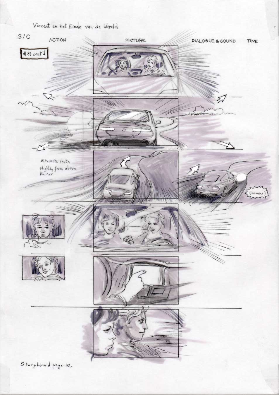 Vincent and the End of the World storyboard 02