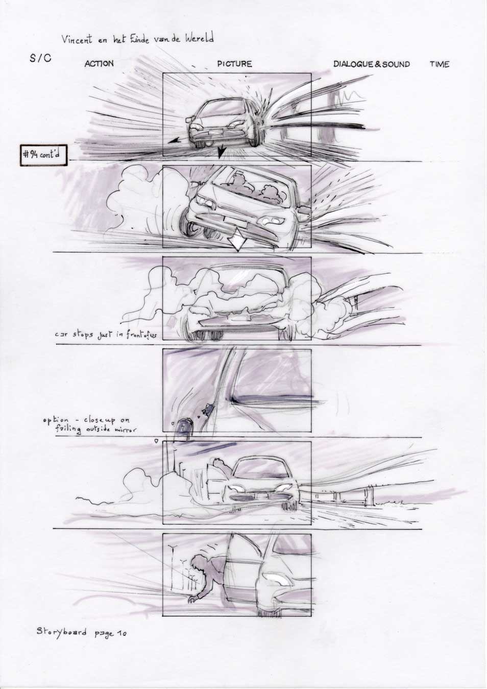 Vincent and the End of the World storyboard 10