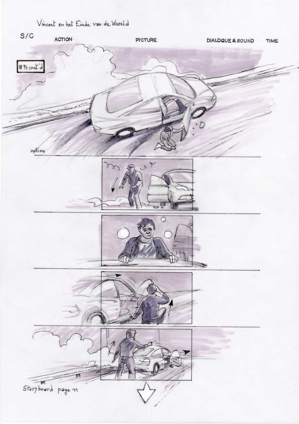 Vincent and the End of the World storyboard 11