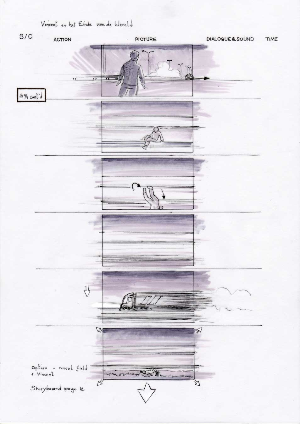 Vincent and the End of the World storyboard 12